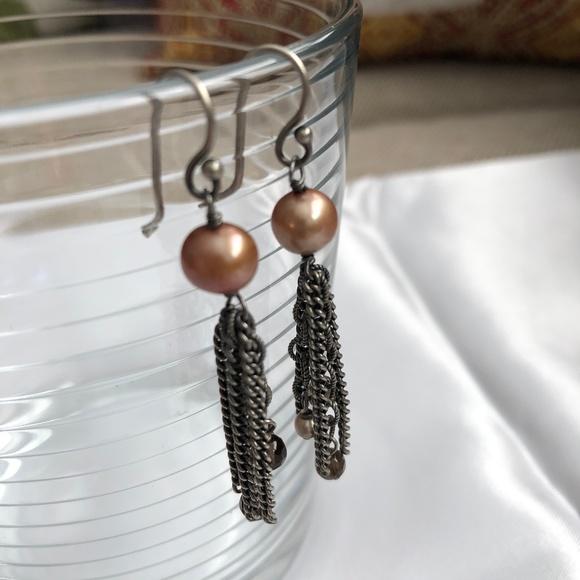 1bd179c0c Silpada Jewelry | 925 Copper Pearl Earrings Chains W1521 | Poshmark